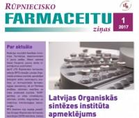 Rūpniecisko farmaceitu sekcijas ziņu biļetens Nr. 1-2017